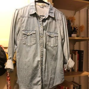 Topshop Denim Button Down
